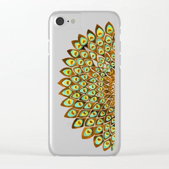 Peacock Mandala – 70s Palette Clear iPhone Case