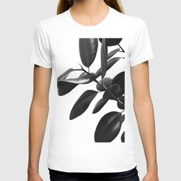 Ficus Elastica Black & White Vibes #1 #foliage #decor #art #society6 T-shirt