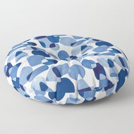 Blue Watercolour Geometric Floor Pillow