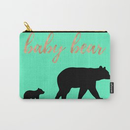 Baby Bear - Mint Rose Gold Carry-All Pouch