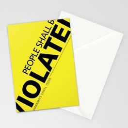 People Shall Be Violated Stationery Cards
