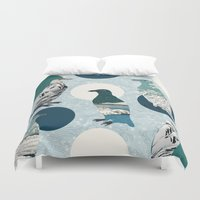 polka Duvet Covers featuring Penguin Polka by Paula Belle Flores