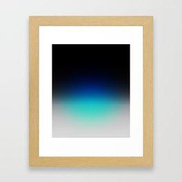 Blue Gray Black Ombre Framed Art Print