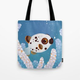 Blackspotted puffer Tote Bag