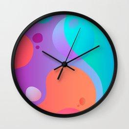 Abstract Lava Lamp Wall Clock