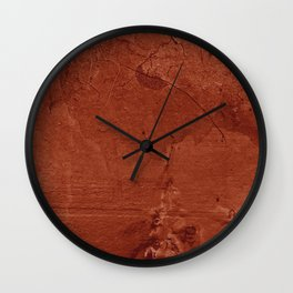 Red Clay and Concrete  Wall Clock