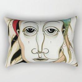 Angel Aiya Channeled Painting Sacred Art High Frequencies Rectangular Pillow