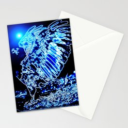 Bird Models: Magnified Eagle 01-01 Stationery Cards