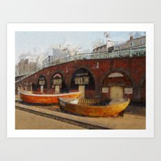 Brighton Boats Art Print