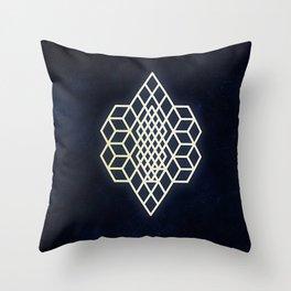 Diamond cubism Throw Pillow