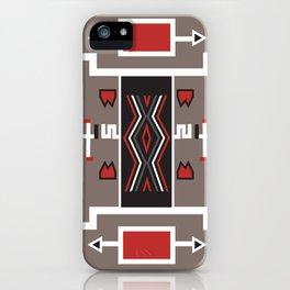 American Native Pattern No. 161 iPhone Case