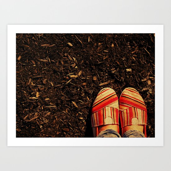 Shoes in the Mulch Art Print