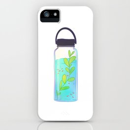 Hydro flask water terrarium iPhone Case