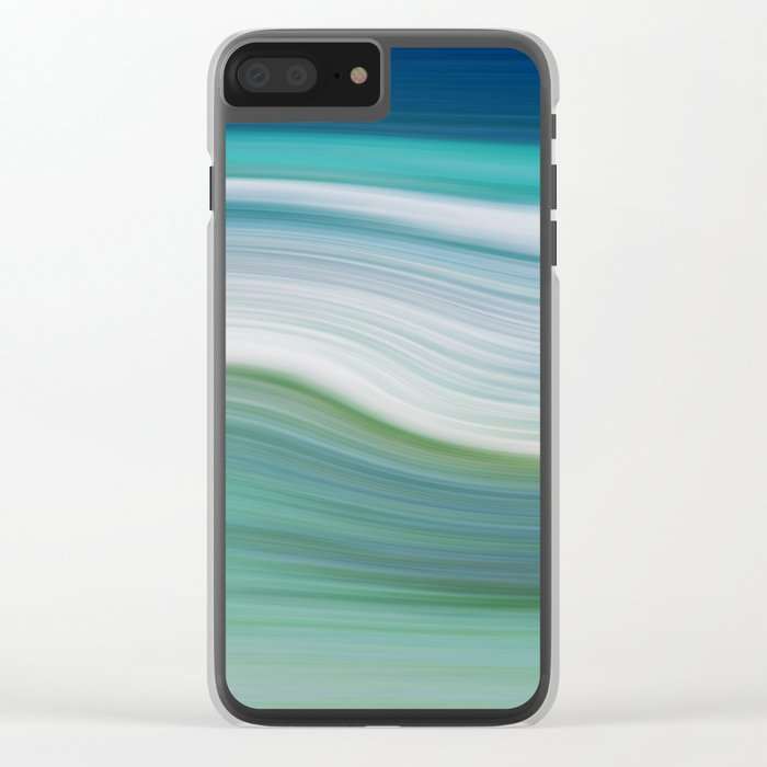 OCEAN ABSTRACT Clear iPhone Case