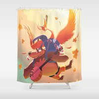 banjo Shower Curtains featuring Banjo Kazooie by Felo