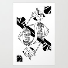 Playing card - King Art Print