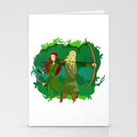 legolas Stationery Cards featuring Legolas by hikary