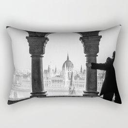 Looking Through. Rectangular Pillow
