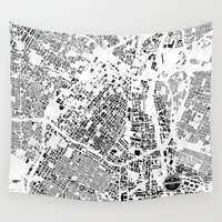 los angeles Wall Tapestries featuring LOS ANGELES by Maps Factory