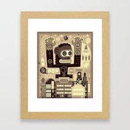 Pop Monk vintage Framed Art Print