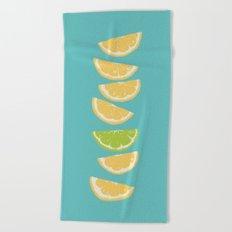 Citrus Tip - Turquoise Beach Towel