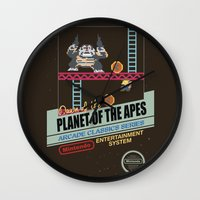 ape Wall Clocks featuring Ape not kill ape by Berta Merlotte