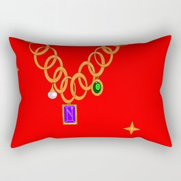 Necklace, bling, gems Rectangular Pillow