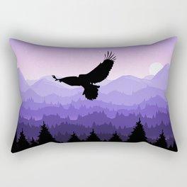 Eagle Skyline Rectangular Pillow