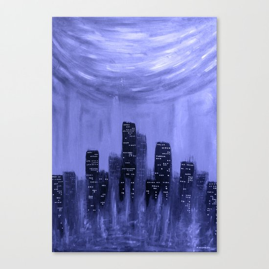 City of Fire ~ Blue  Canvas Print