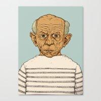 pablo picasso Canvas Prints featuring Pablo Picasso by baldur