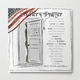 Soldier's Prayer ~ Ginkelmier Metal Print