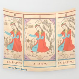Tarot card-The Popess-The High Priestess-La Papesse Wall Tapestry
