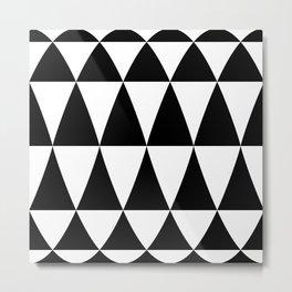 Triangle waves and swirls Metal Print