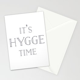 It's Hygge Time Stationery Cards