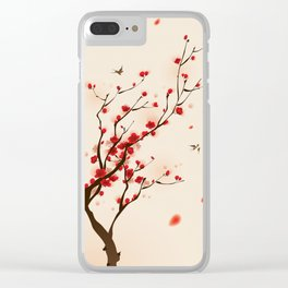 Oriental plum blossom in spring 005 Clear iPhone Case