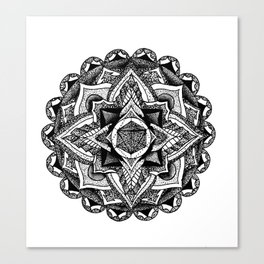 Mandala Circles Canvas Print