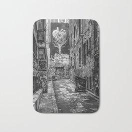 City Life (Black and White) Bath Mat