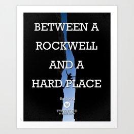 Typefaced — Rockwell Art Print