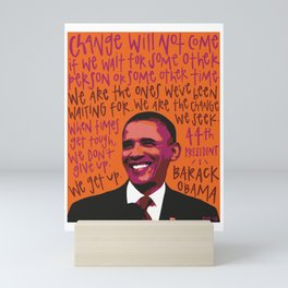 Barack Obama. Mini Art Print