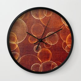 orange bubbles Wall Clock
