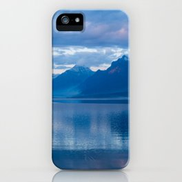 Fire on Lake McDonald at Sunset iPhone Case