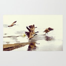 The Take Off - Wild Geese Rug