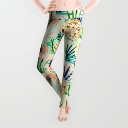 Pattern of tropical fruit and plants I Leggings