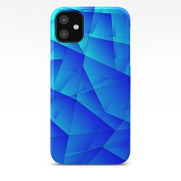 Bright sea pattern of heavenly and blue triangles and irregularly shaped lines. iPhone Case