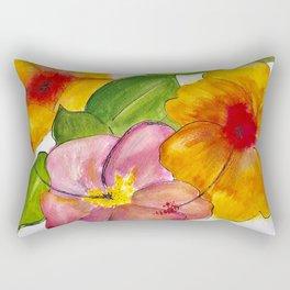 Hibiscus Flowers Rectangular Pillow