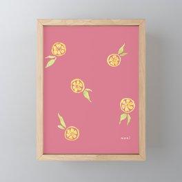 Lemony Love - pink Framed Mini Art Print