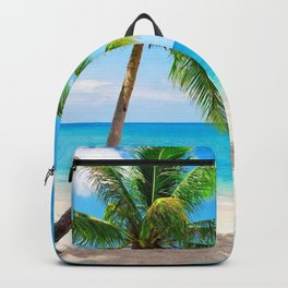 palm tree by the beach Backpack
