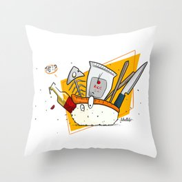 Nani!? Nigiri Throw Pillow