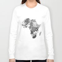 africa Long Sleeve T-shirts featuring Africa by Kacenka