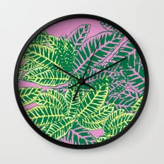Zebra Plant  Wall Clock